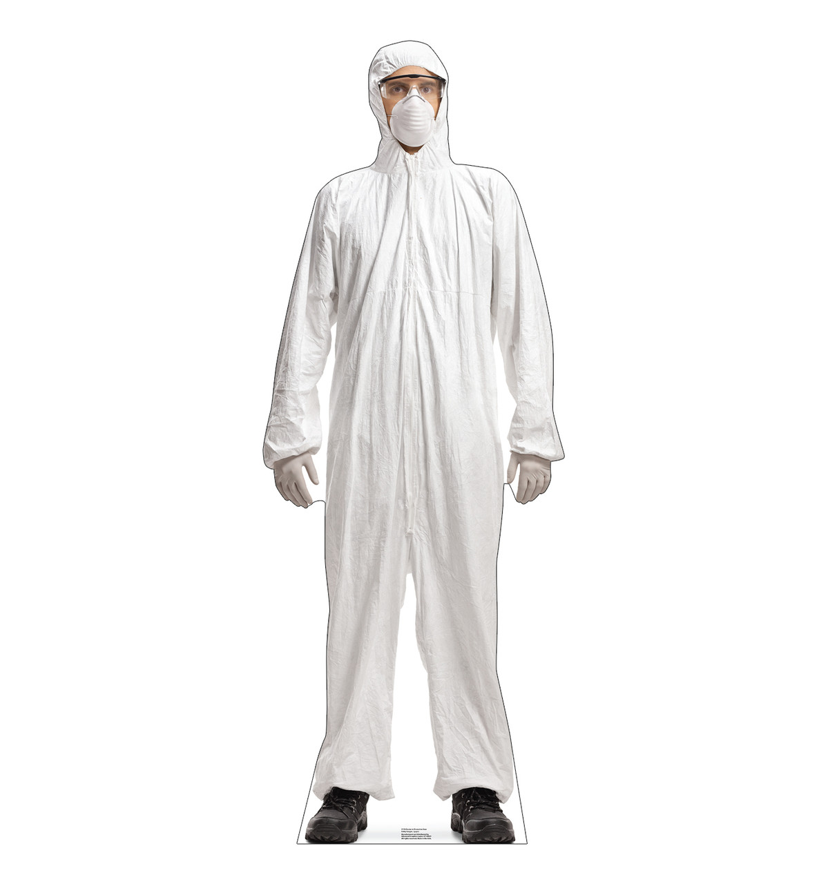 Life-size cardboard standee of a Doctor in Protective Gear.