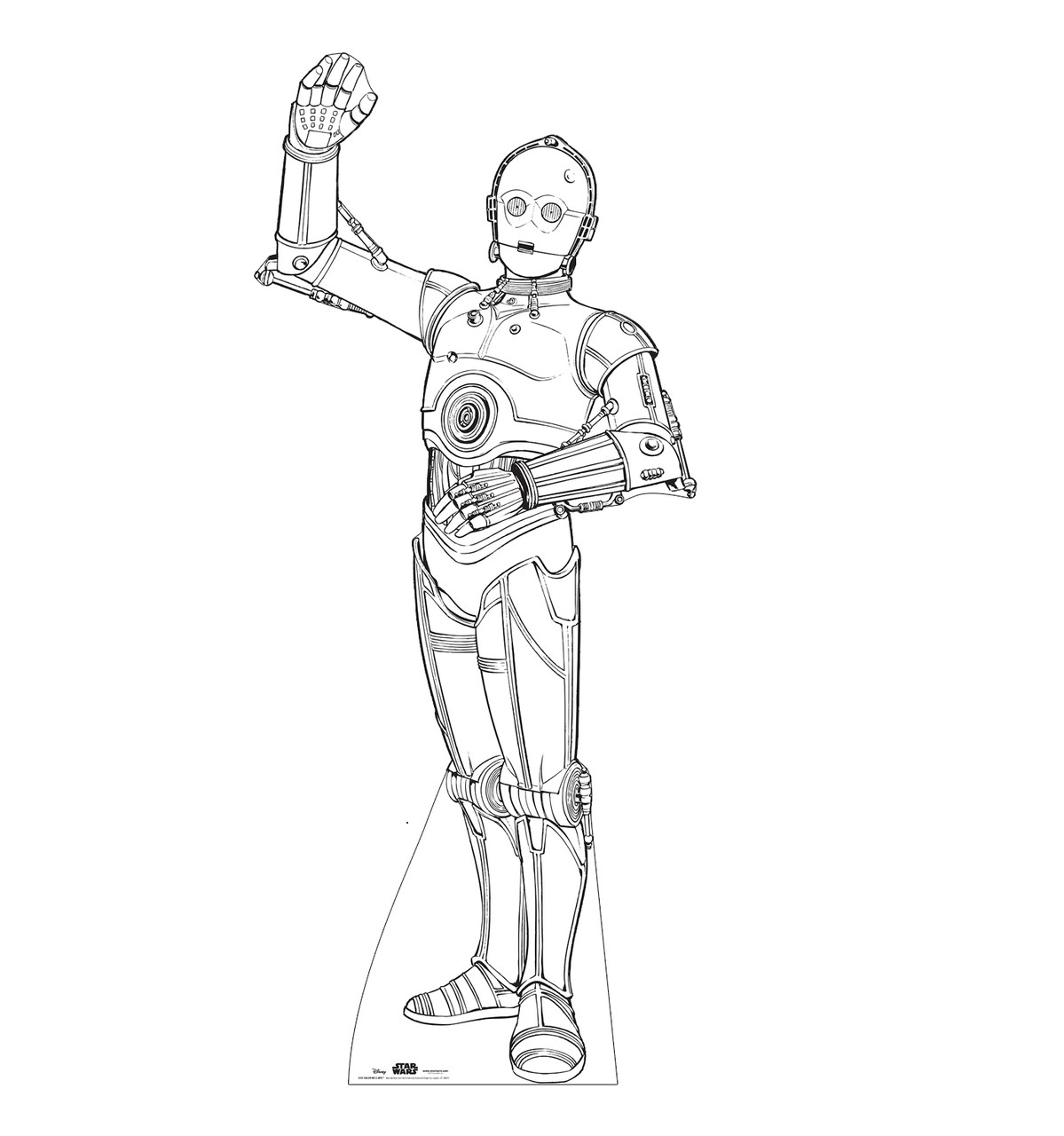Life-size Color Me C-3PO Standee.
