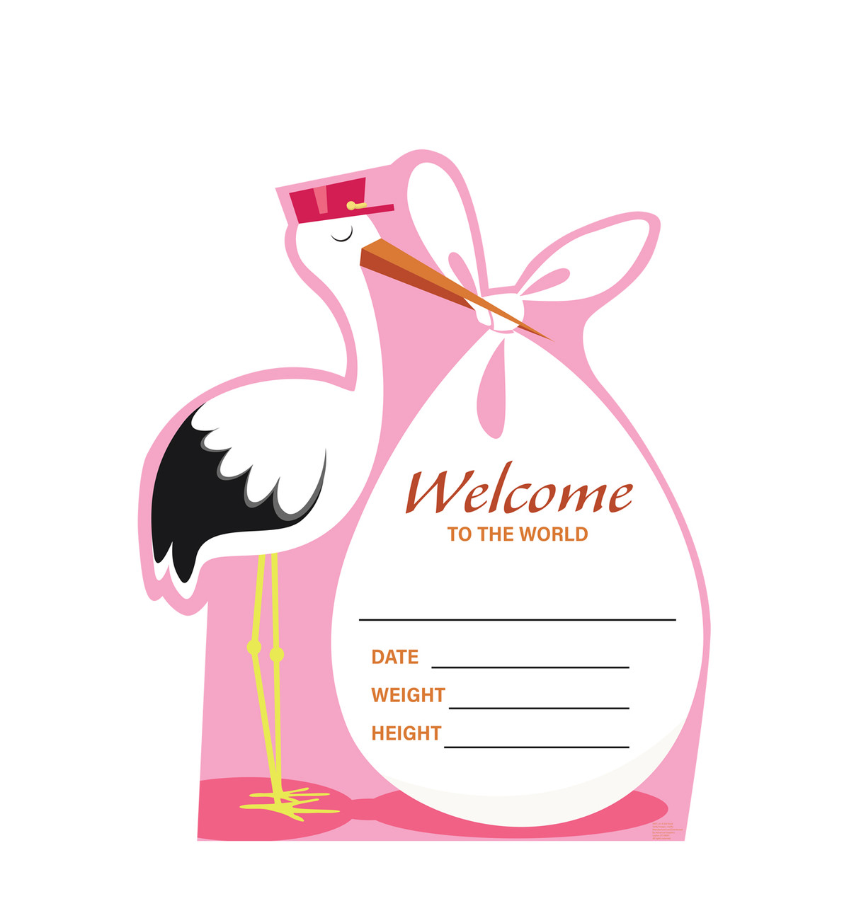 It's a Girl Stork standee.
