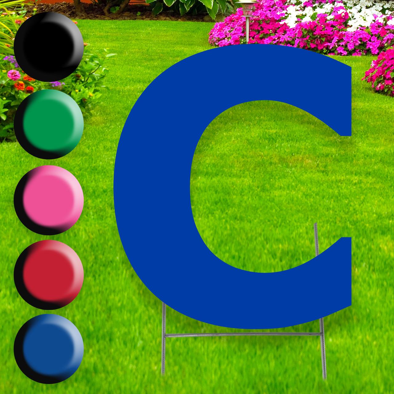 Letter C Yard Sign