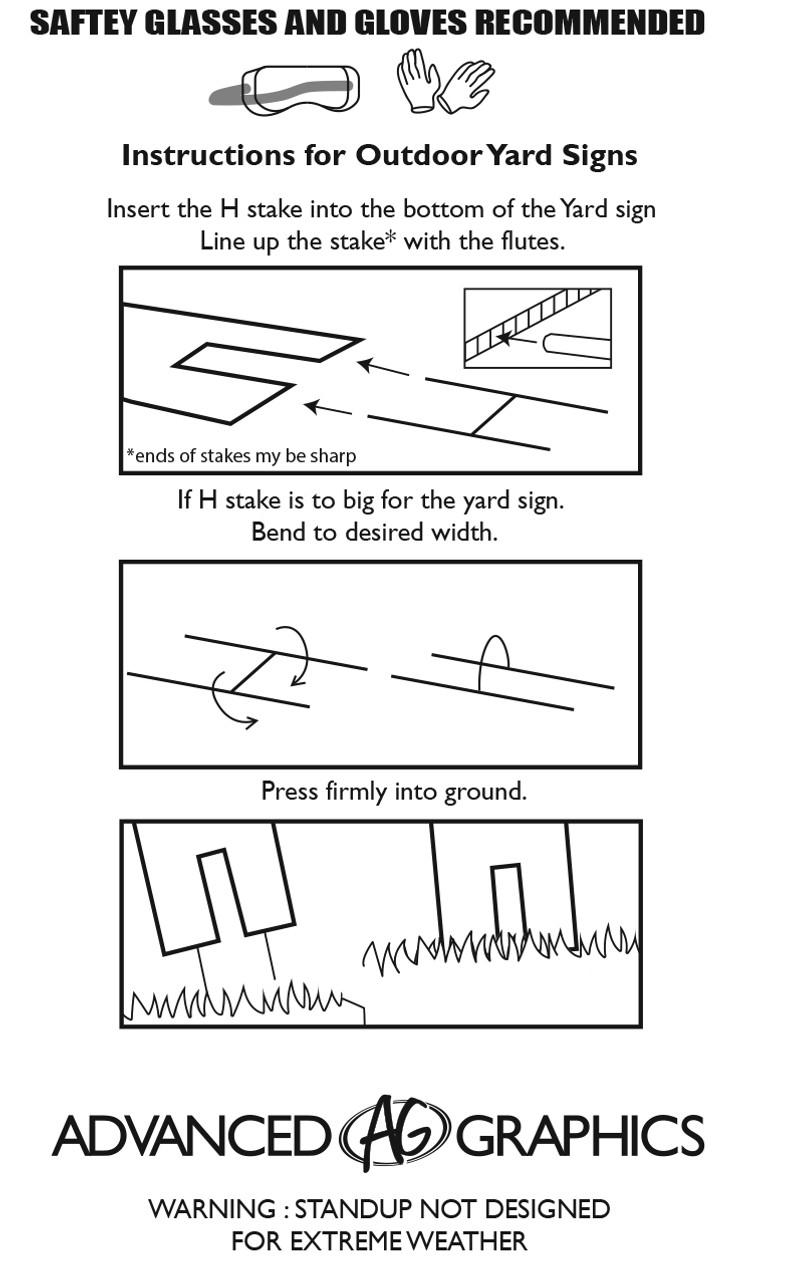 Yard Stake Instructions