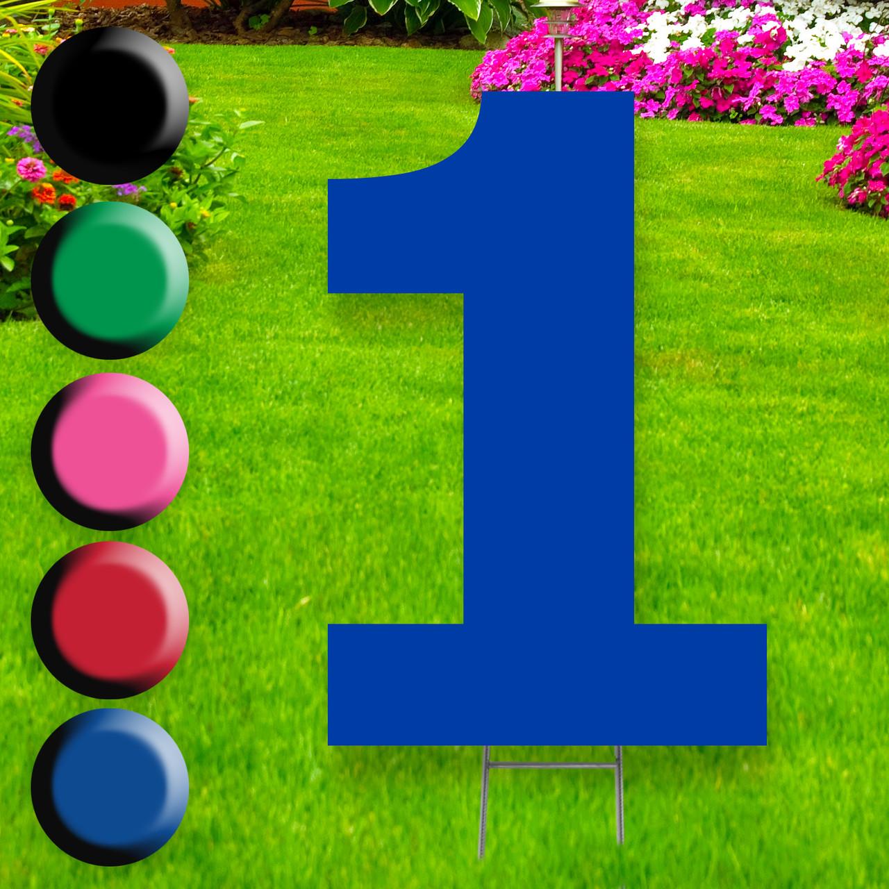 Number 1 yard sign