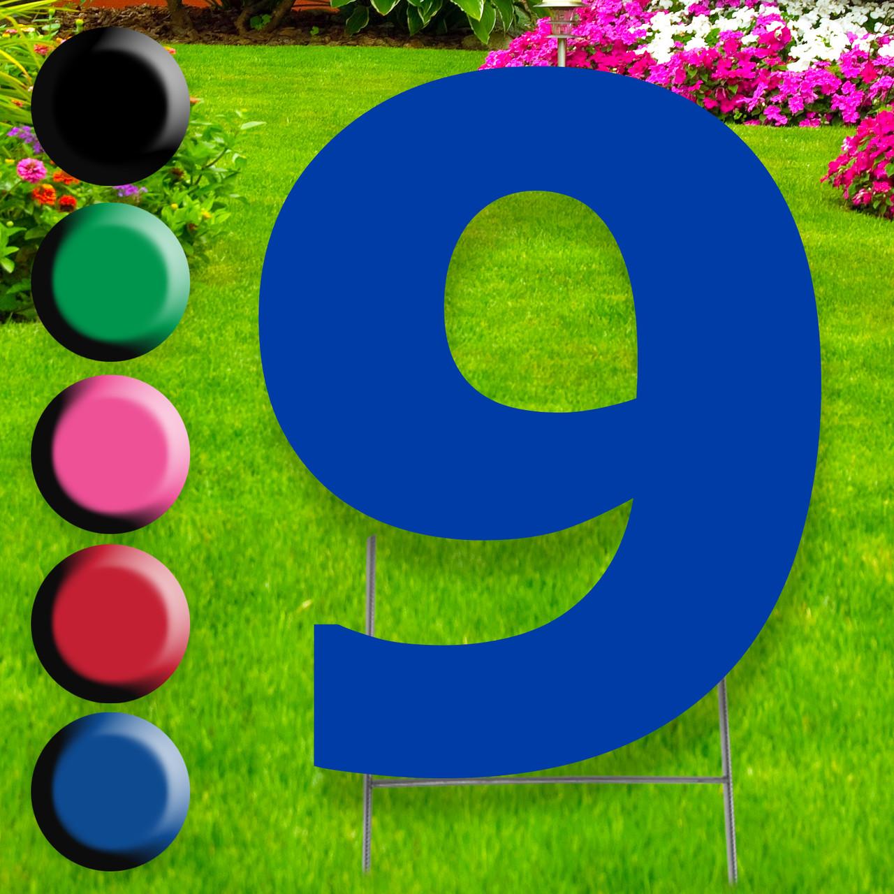Number 9 yard sign