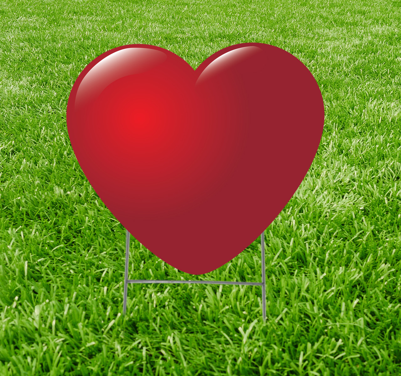 Coroplast outdoor yard sign icon of a red heart.