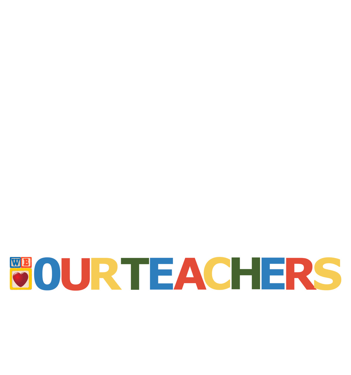 Coroplast outdoor We Heart Our Teachers Yard Letter Yard Sign Kit.