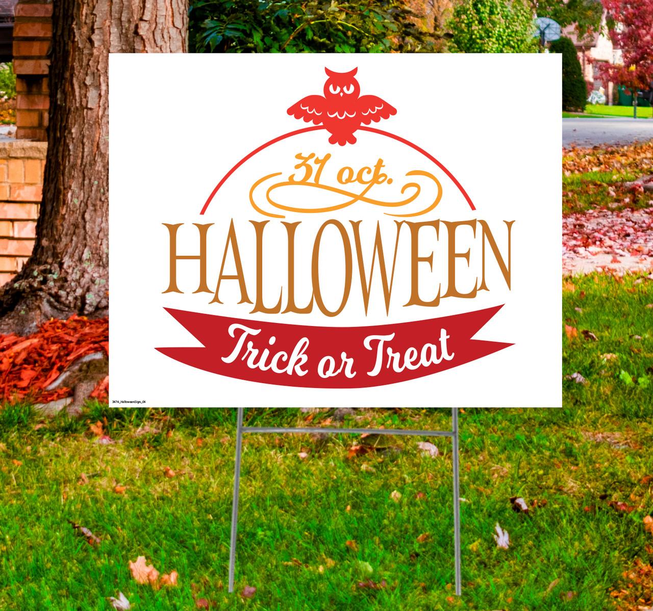 Coroplast outdoor Halloween Sign 04.
