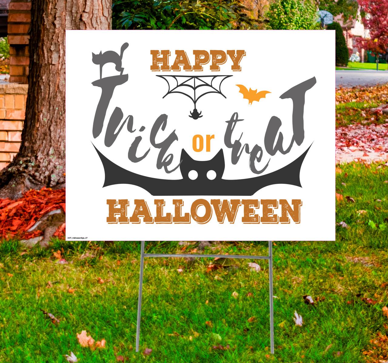 Coroplast outdoor Halloween Sign 07.