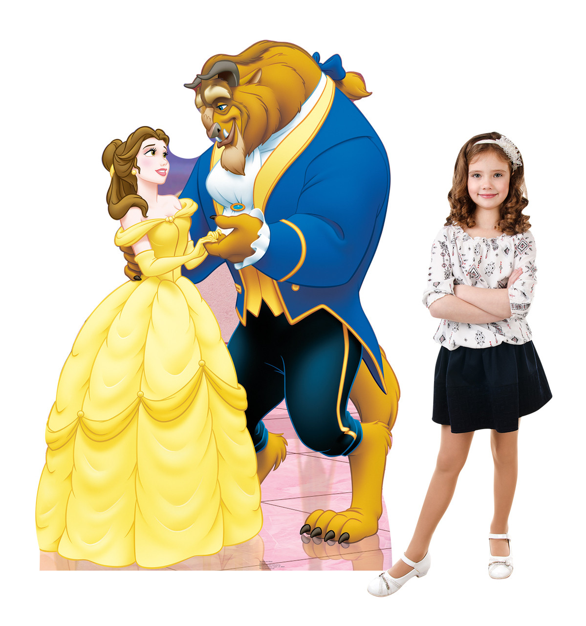 Belle and Beast (Beauty and the Beast) Cardboard Cutout front and back view