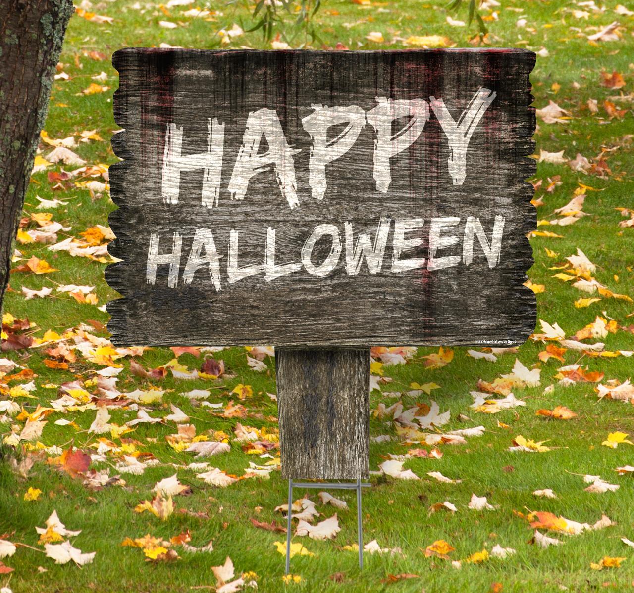 Coroplast outdoor Happy Halloween Yard Sign 2.