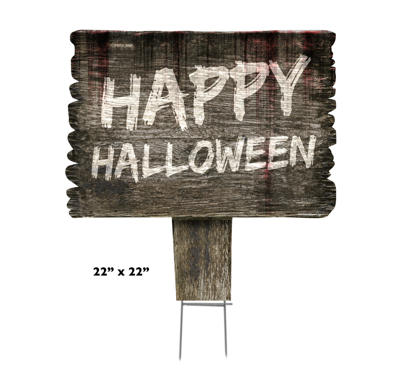 Coroplast outdoor Happy Halloween Yard Sign 2 with dimensions.