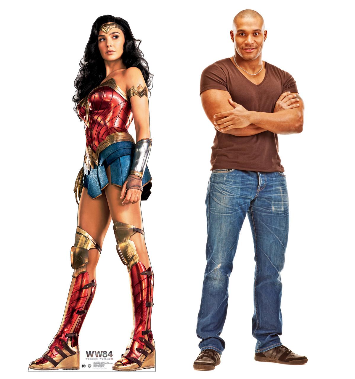 Wonder Woman 1984 cardboard standee with model.