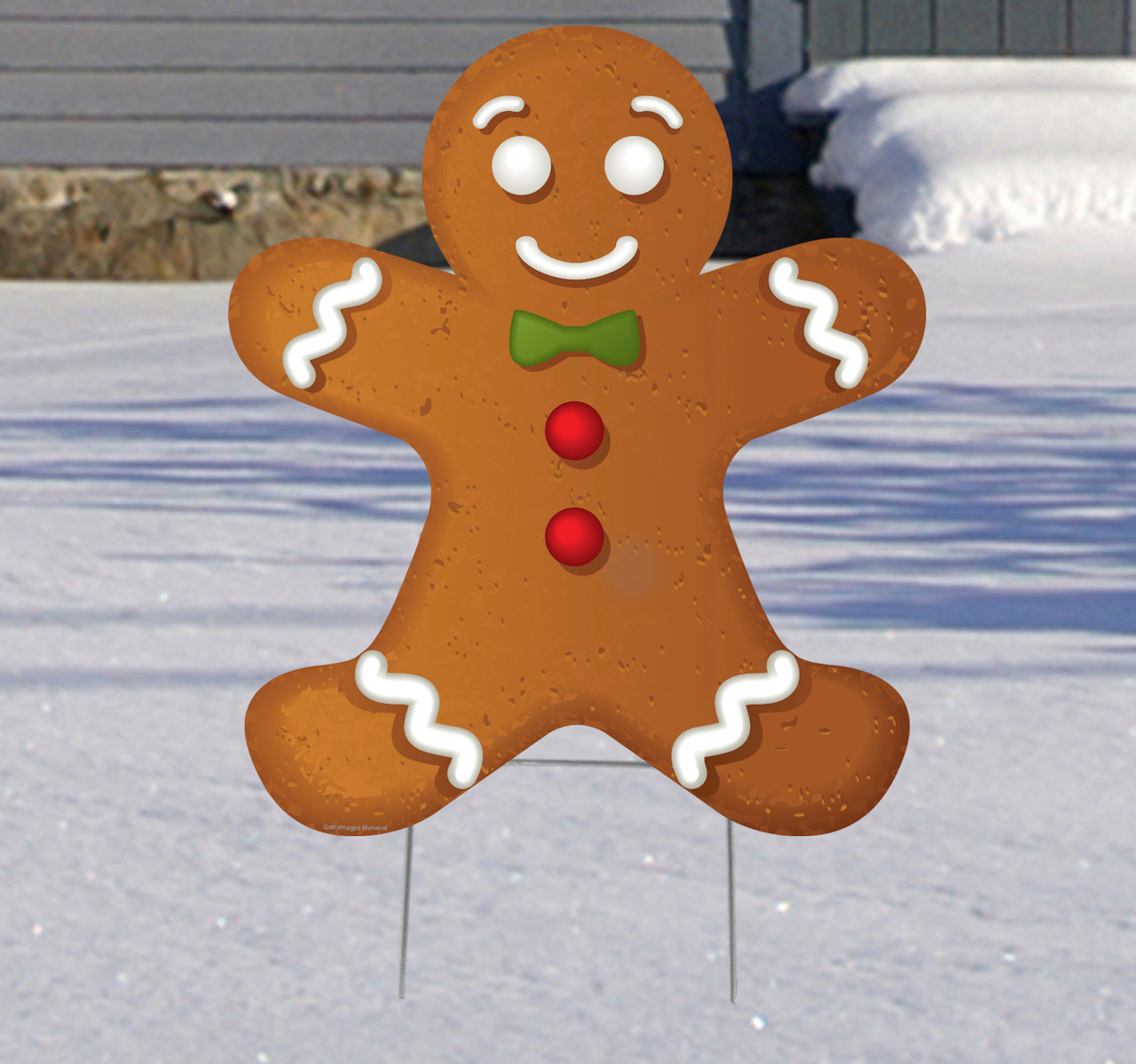 Coroplast outdoor Ginger Bread Man Yard Sign.
