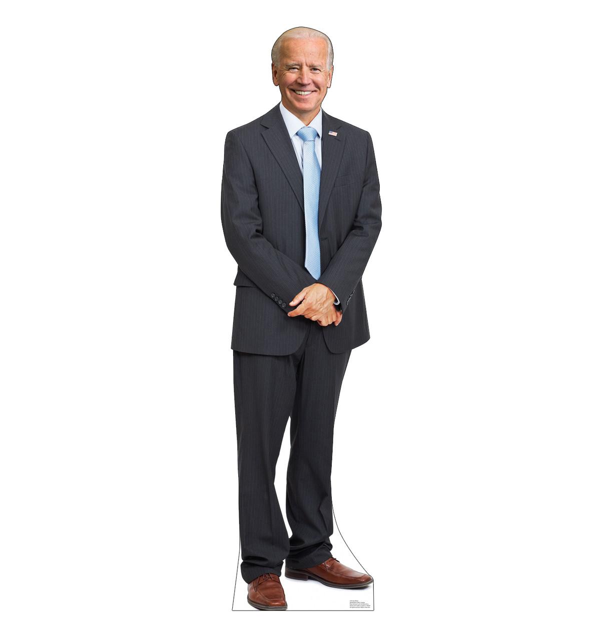 Life-size standee of President Joe Biden.