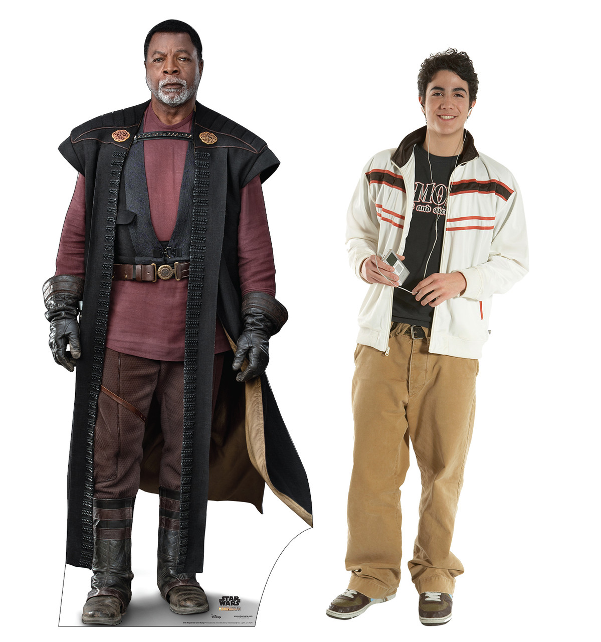 Life-size cardboard standee of Magistrate Greef Karga with model.