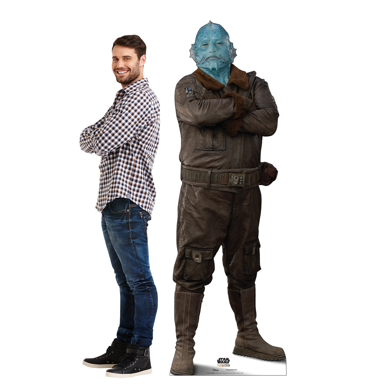 Life-size cardboard standee of The Mythrol with model.