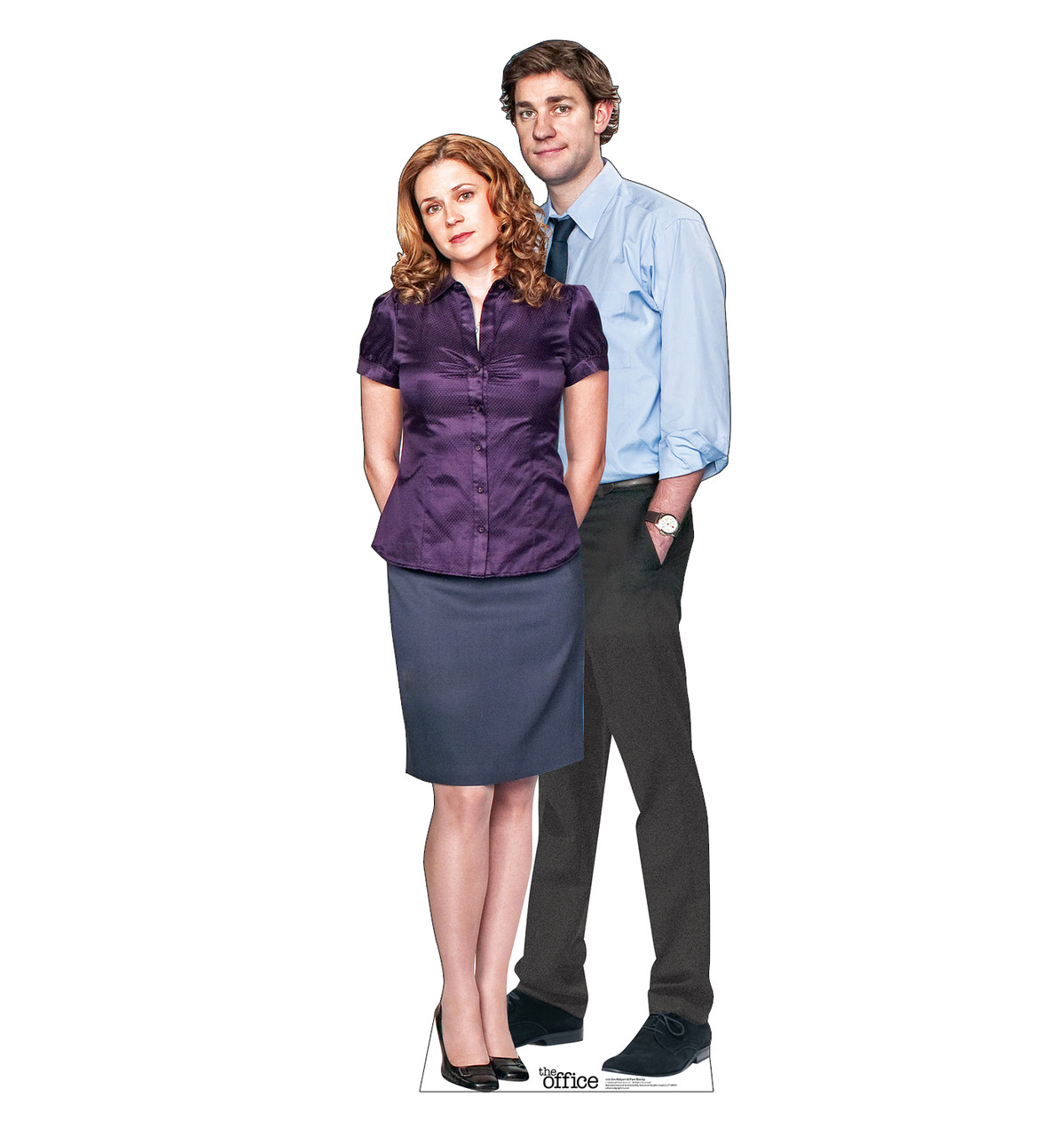 Life-size cardboard standee of Jim Halpert & Pam Beesly from the Office TV show.