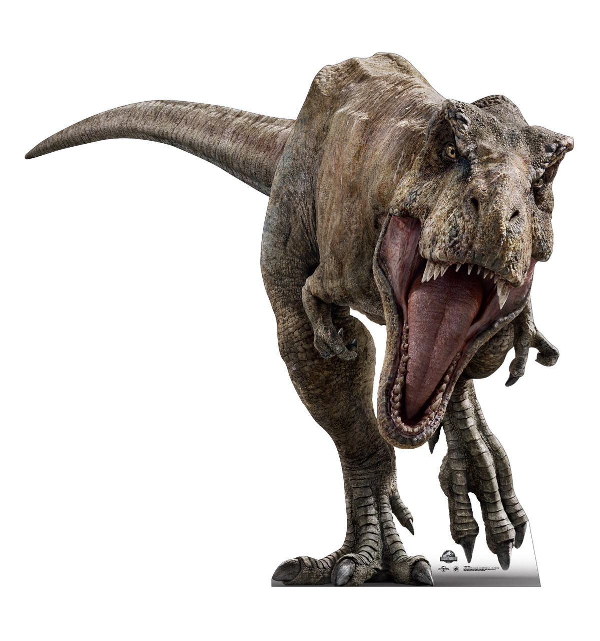 Life-size cardboard standee of T-Rex from The Lost World.