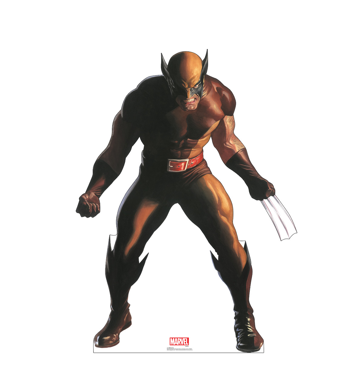 Life-size cardboard standee of Wolverine from Marvels Timeless Collection.