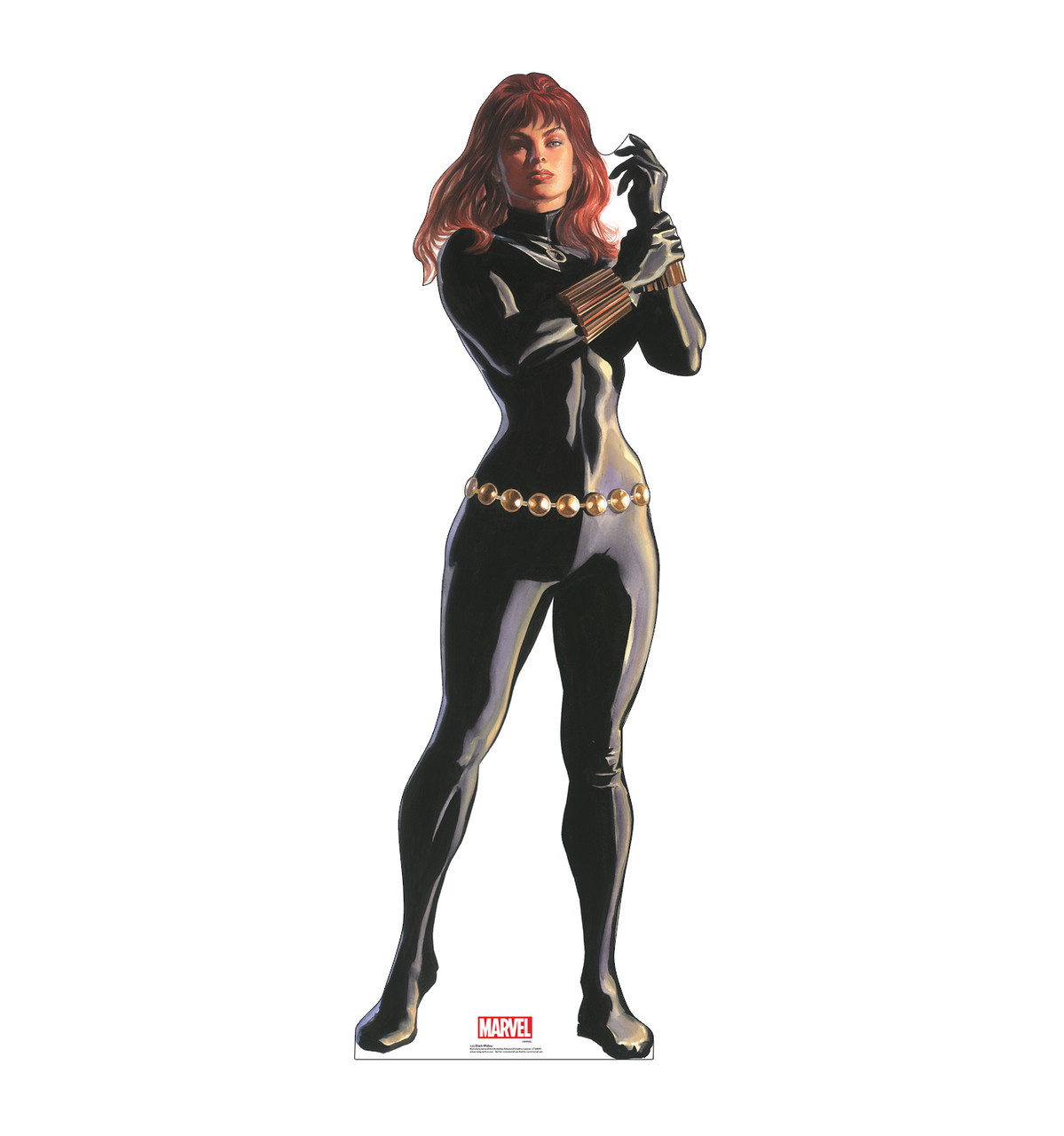 Life-size cardboard standee of Black Widow from Marvels Timeless Collection.