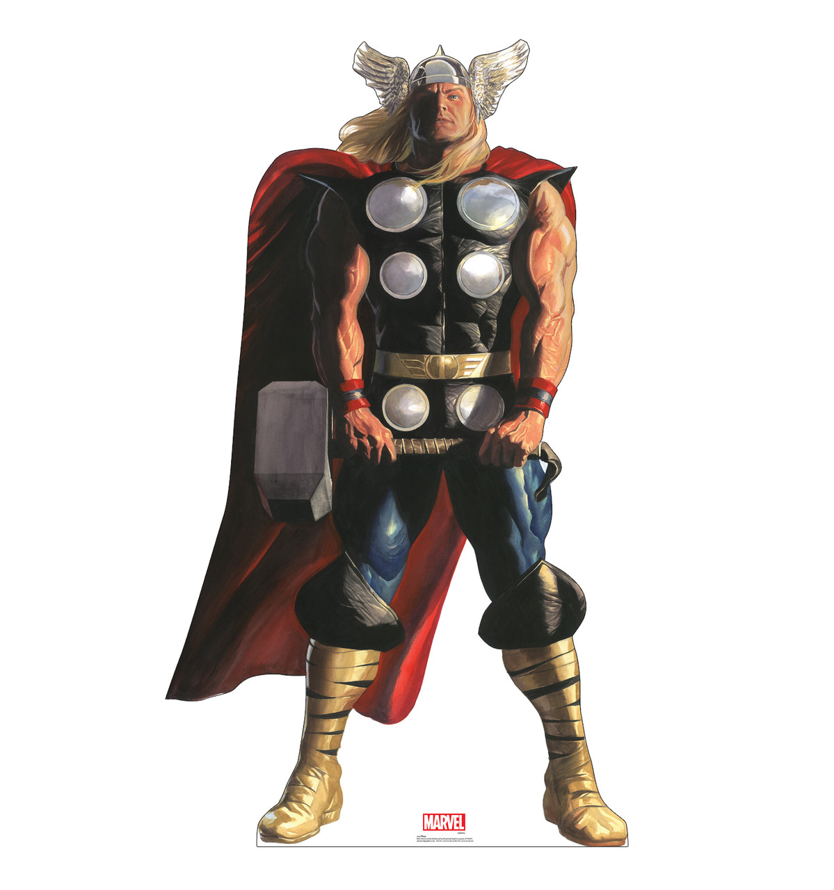 Life-size cardboard standee of Thor from Marvels Timeless Collection.