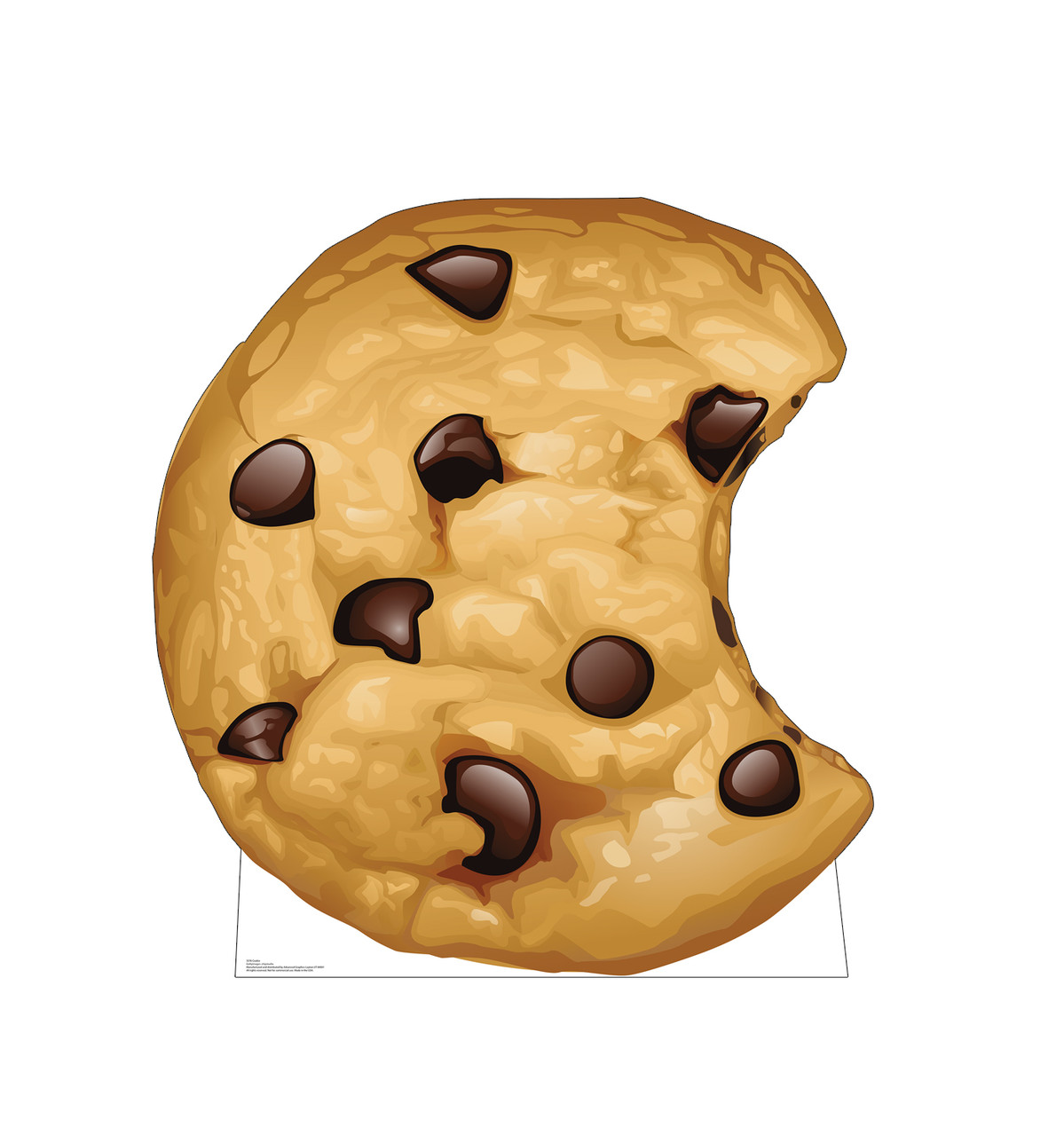 Life-size cardboard standee of a Chocolate Chip Cookie.