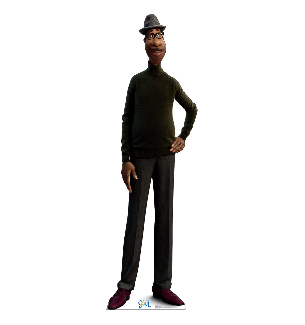 Life-size cardboard standee of Joe Gardner from Disney's Movie Soul.