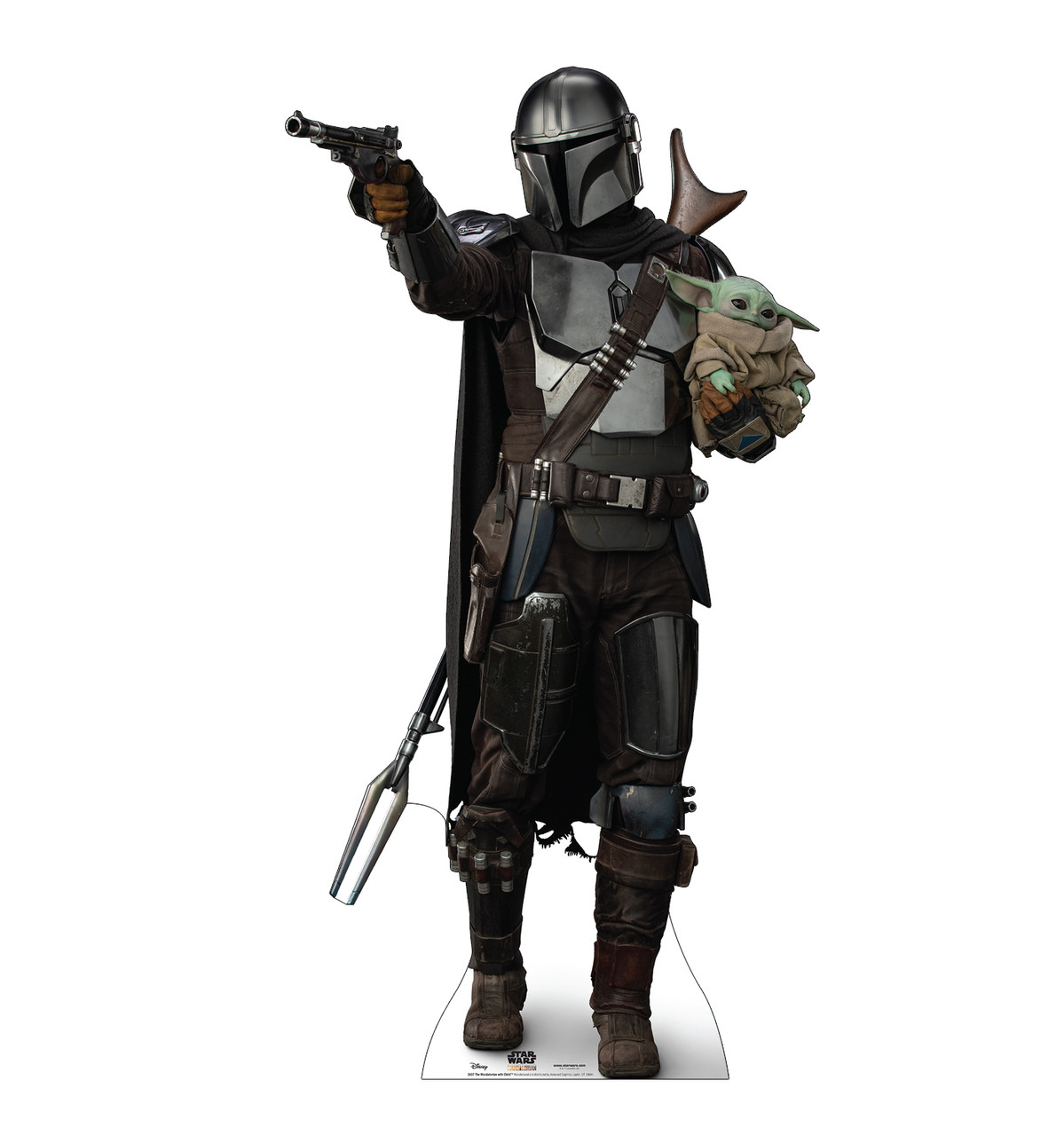 Life-size cardboard standee of The Mandalorian with Child.