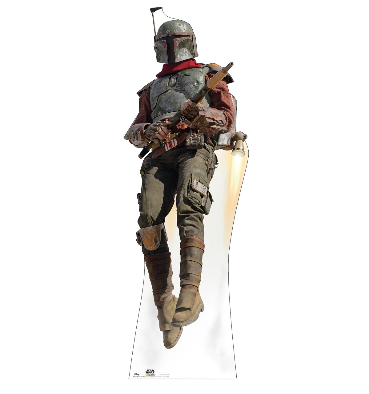 Life-size cardboard standee of The Marshal Flying.