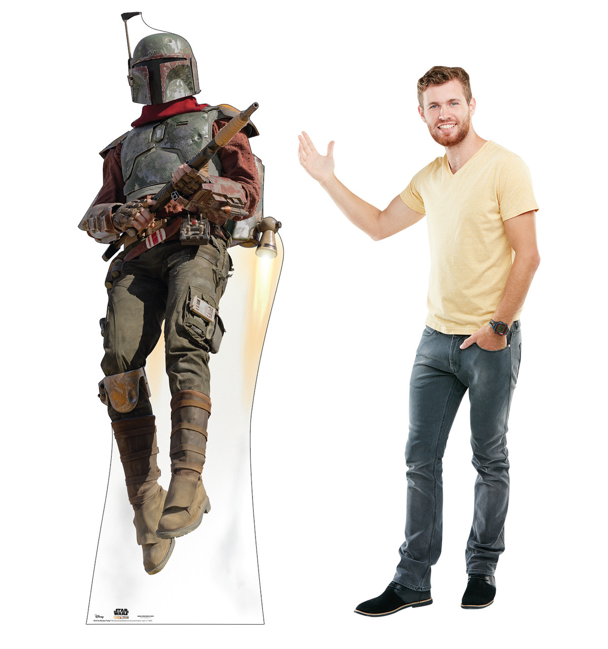 Life-size cardboard standee of The Marshal Flying with model.