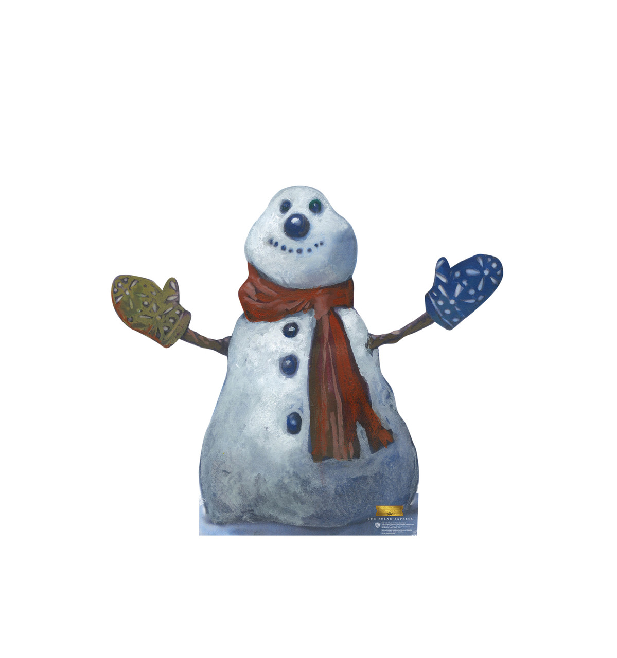 Life-size cardboard standee of the Polar Express Snowman from The Polar Express.