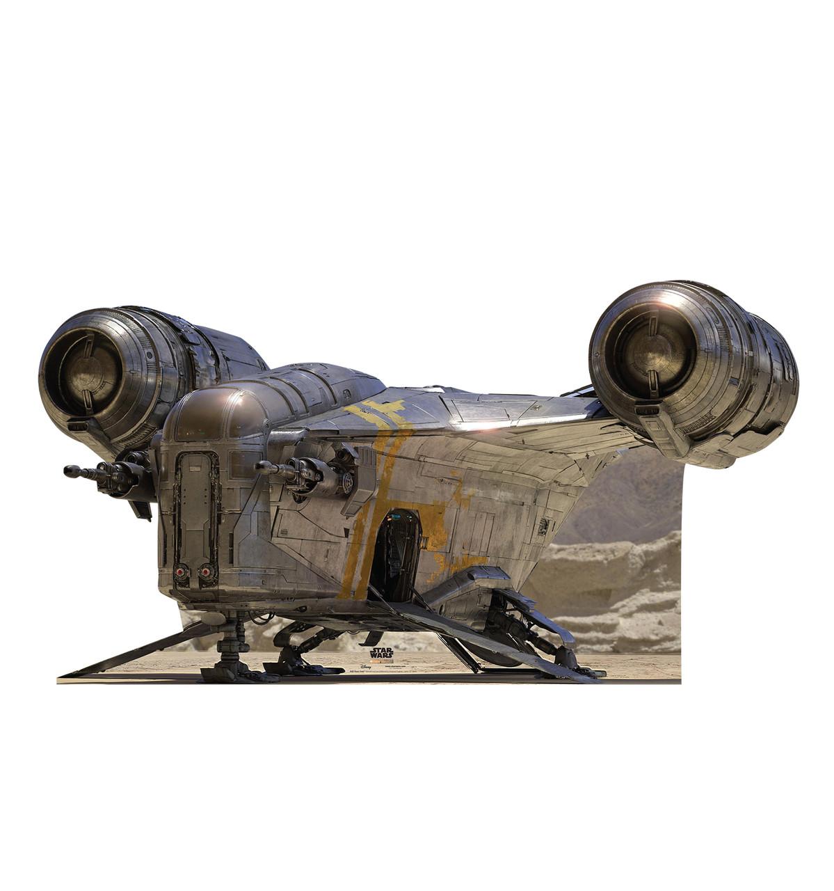 Life-size cardboard standee of the Razor Crest from the Mandalorian season 2.