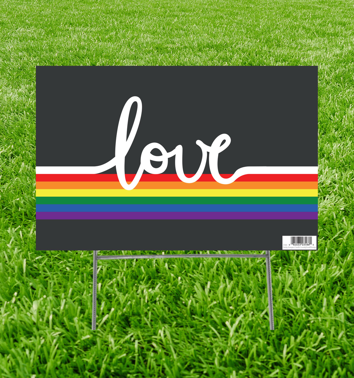 LGBT Love Yard Sign.