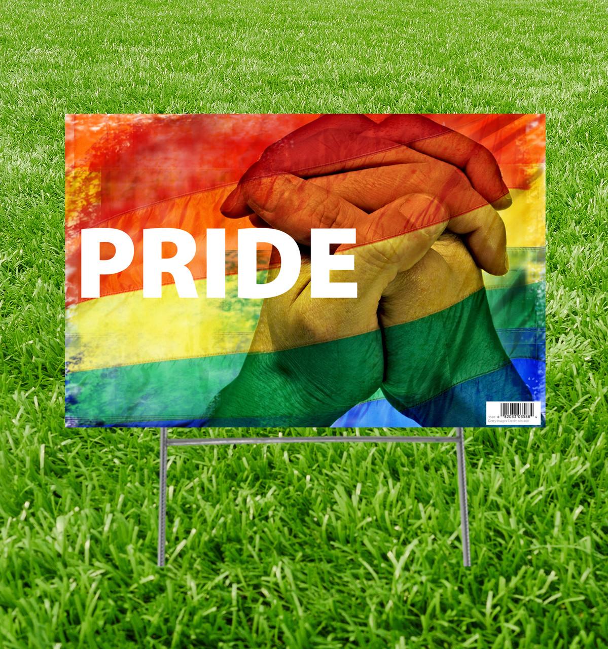 LGBT Pride Yard Sign.