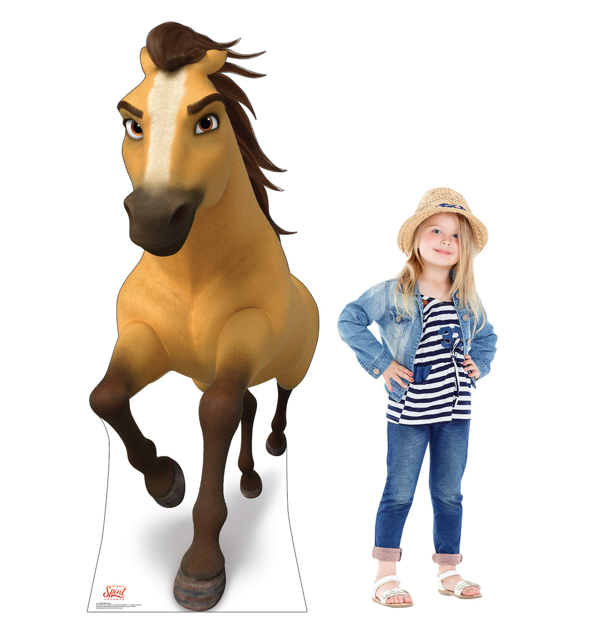 Life-size cardboard standee of Spirit Running with model.