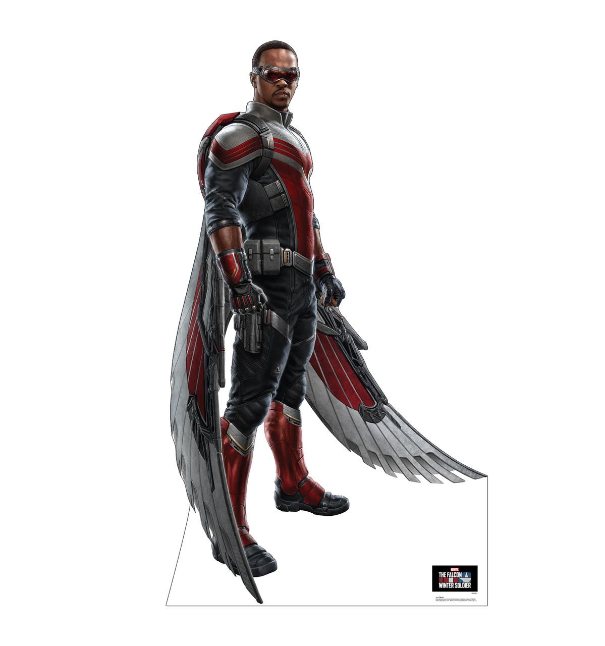 Life-size cardboard standee of Falcon.