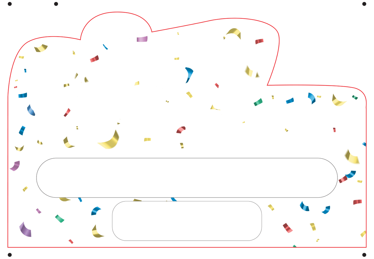 Pick Your  Color - Personalized Grad Yard Sign