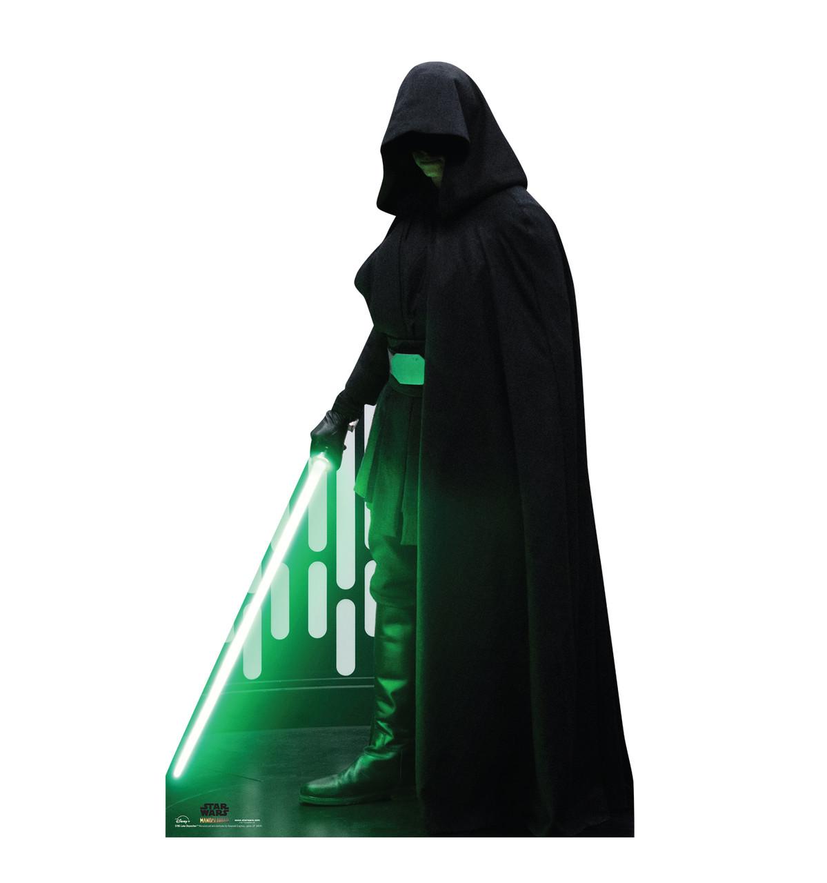 Life-size cardboard standee of Luke Skywalker from the Mandalorian season 2.