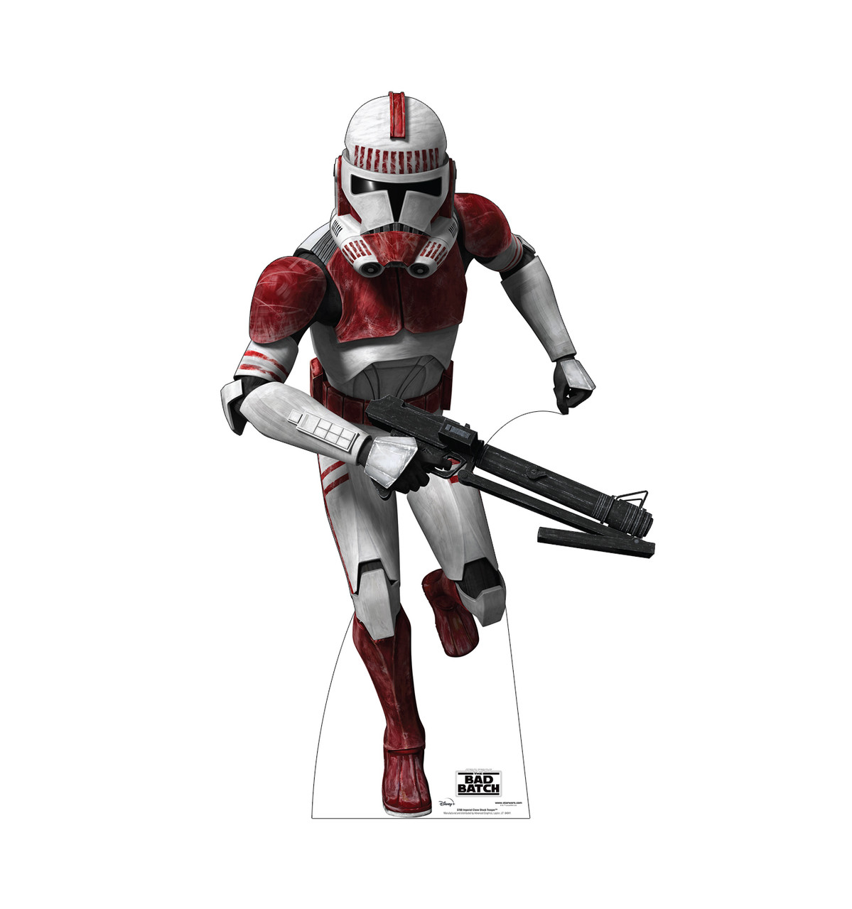Life-size cardboard standee of Imperial Clone Shock Trooper  from The Bad Batch on Disney+.