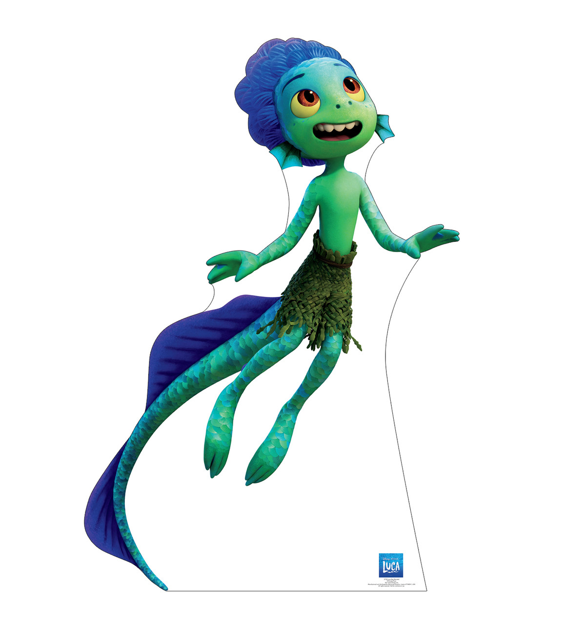 Life-size cardboard standee of Luca Sea Monster.