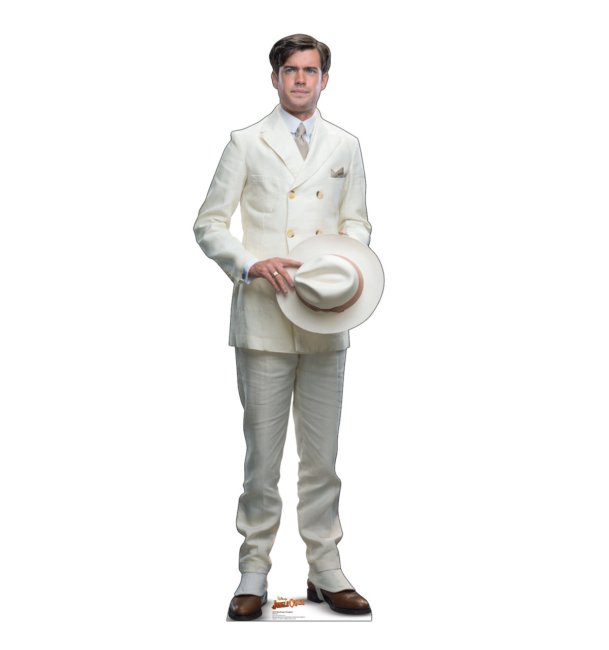 Life-size cardboard standee of MacGregor Houghton from Jungle Cruise.