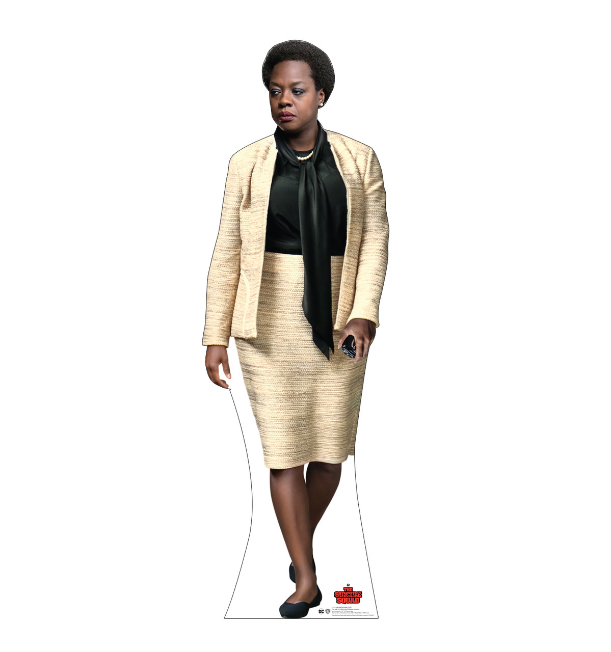 Life-size cardboard standee of Amanda Waller from Suicide Squad 2.