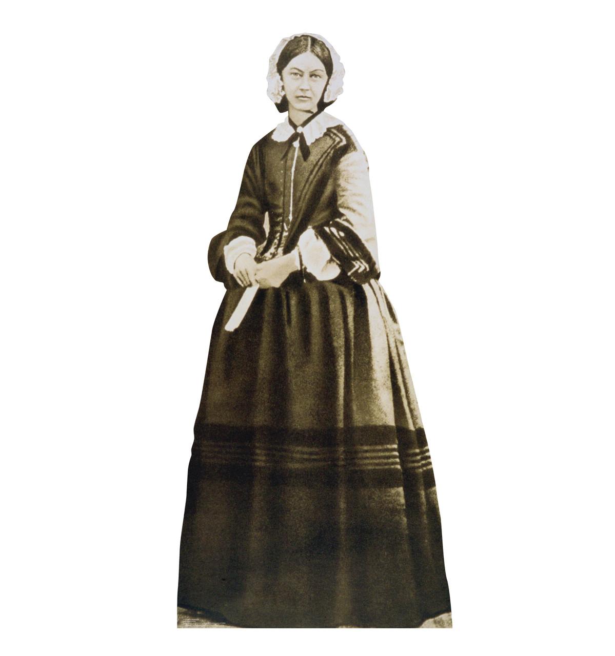 Life-size cardboard standee of Florence Nightingale.