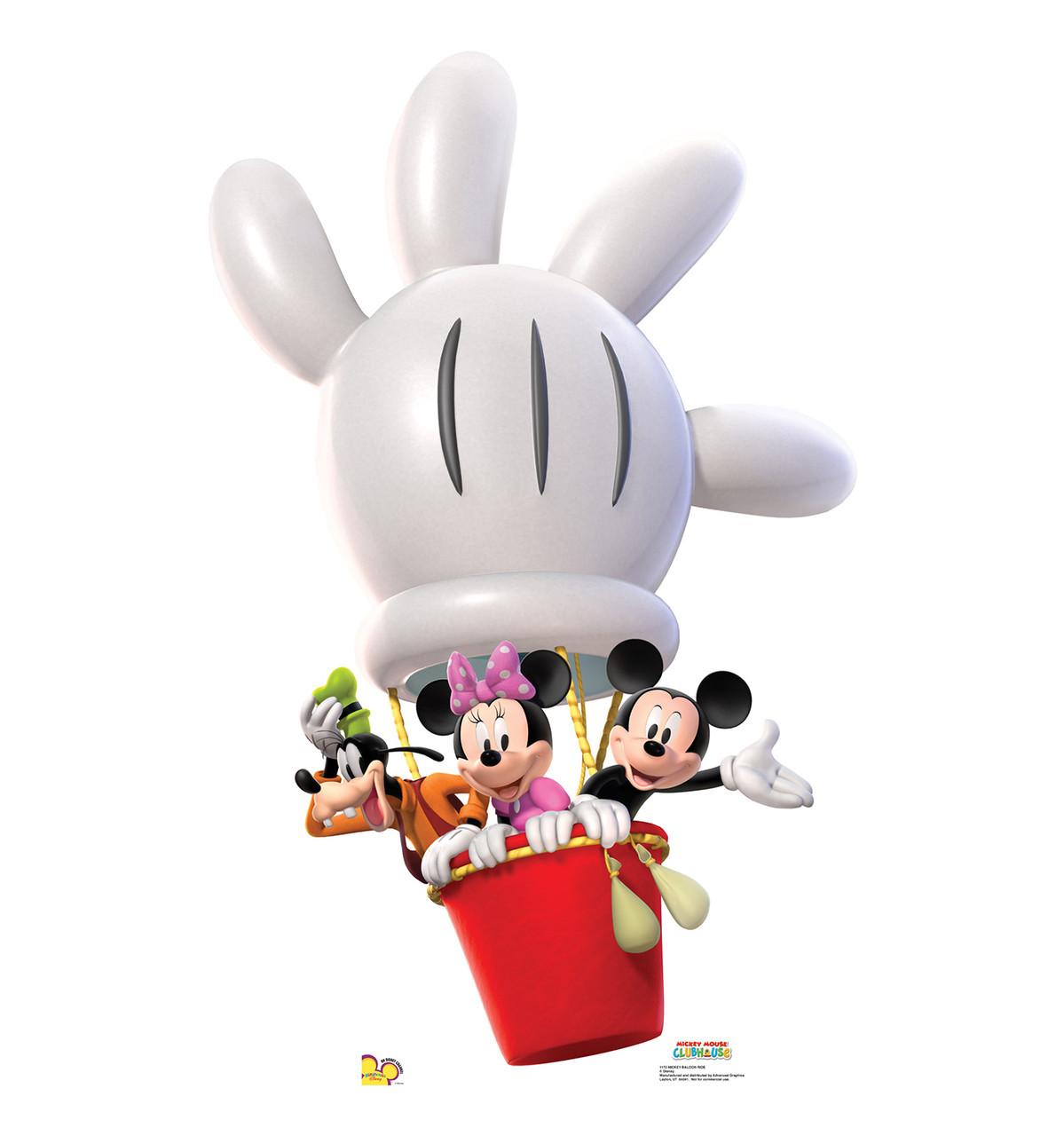 Life-size Mickey Balloon Ride Cardboard Standup   Cardboard Cutout
