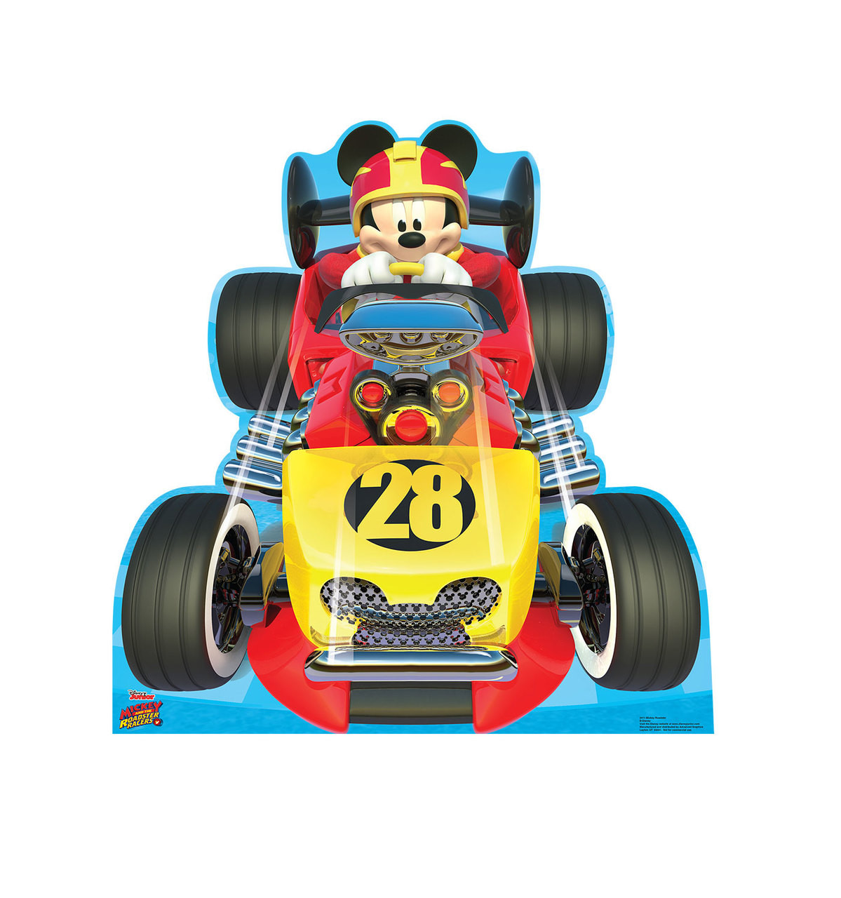 Life-size Mickey Roadster (Disney's Roadster Racers) Cardboard Standup | Cardboard Cutout 3