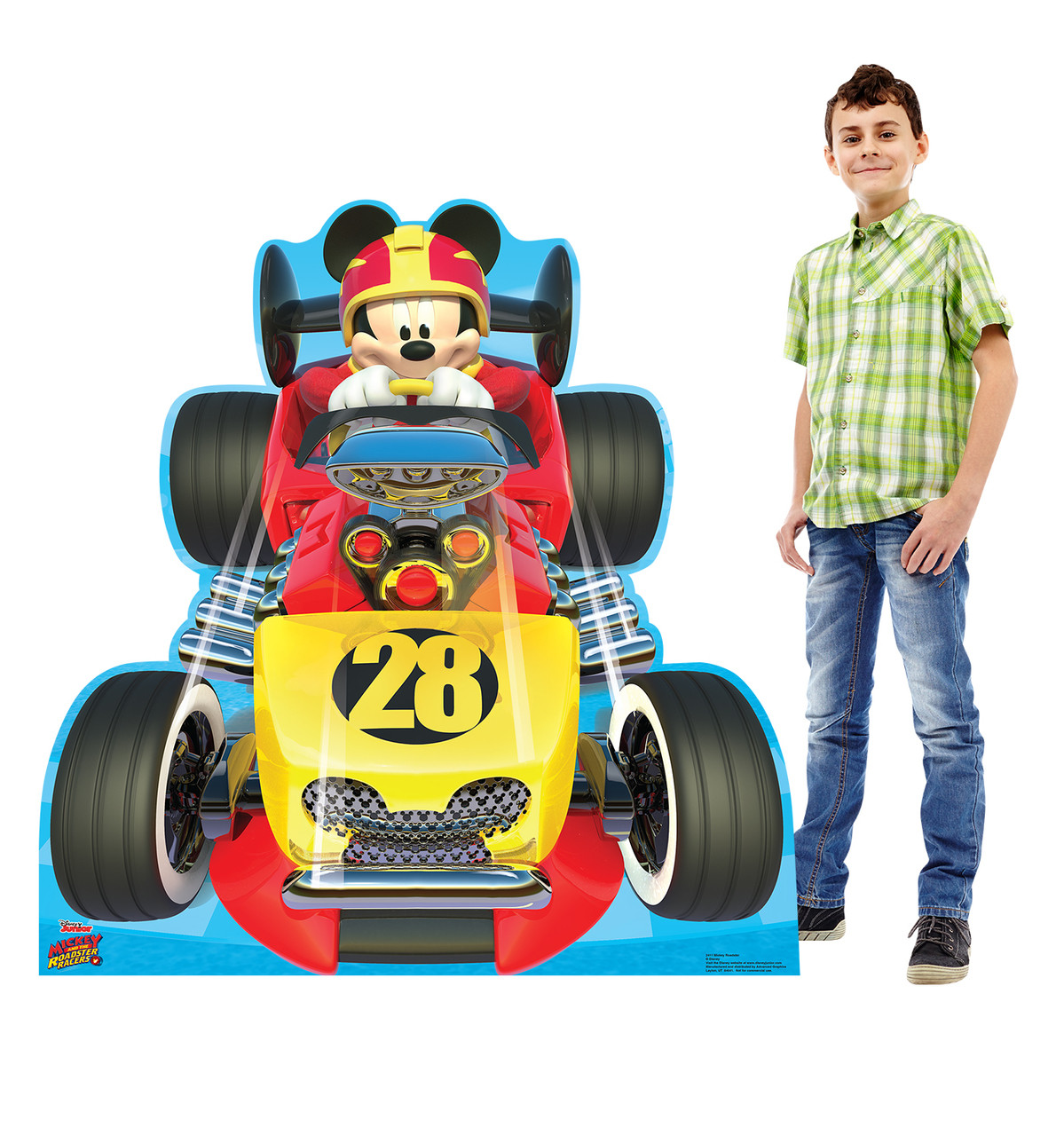 Life-size Mickey Roadster (Disney's Roadster Racers) Cardboard Standup | Cardboard Cutout 2