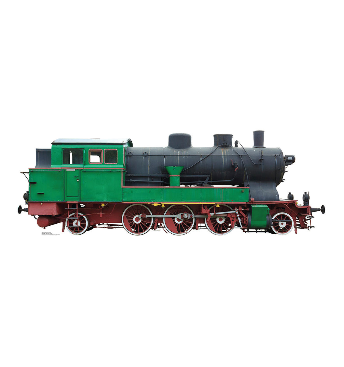 Life-size Green and Red Steam Locomotive Cardboard Standup   Cardboard Cutout