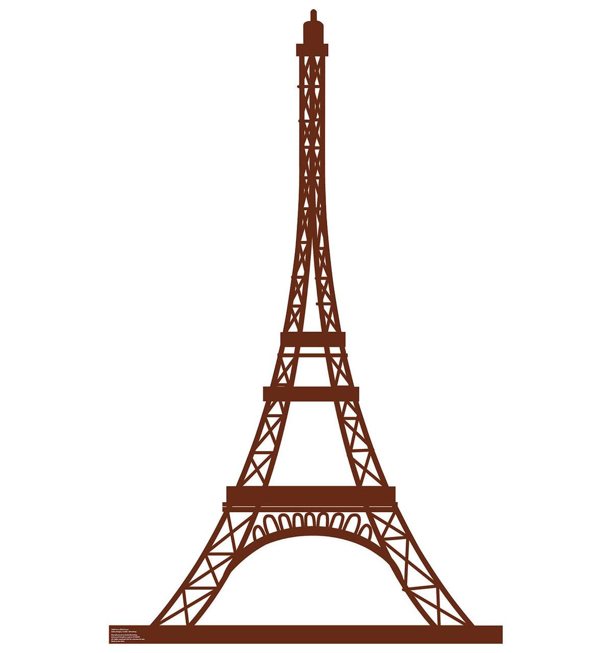 Life-size Paris Eiffel Tower Cardboard Standup | Cardboard Cutout