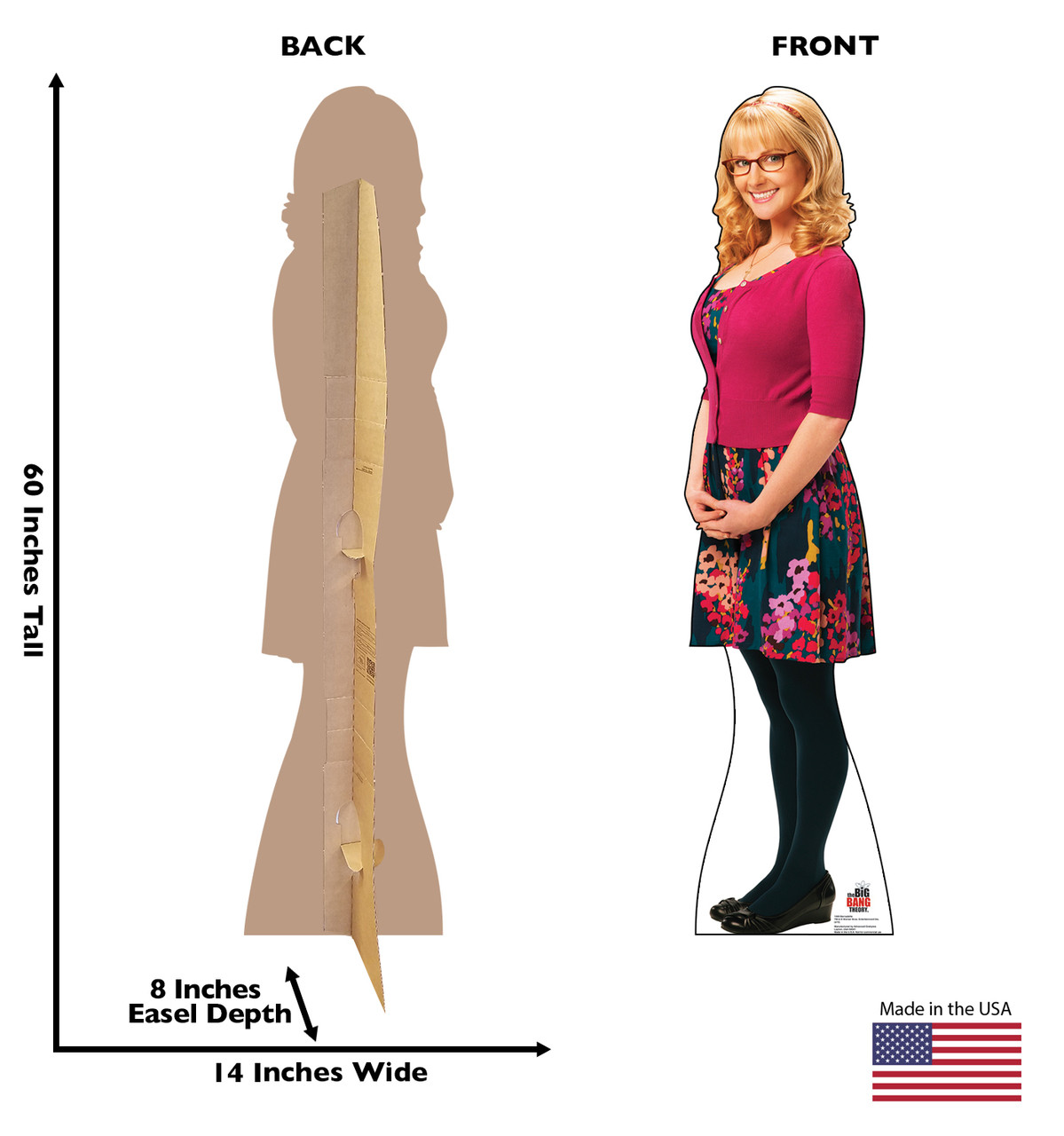 Life-size Bernadette - Big Bang Theory Cardboard Standup | Cardboard Cutout