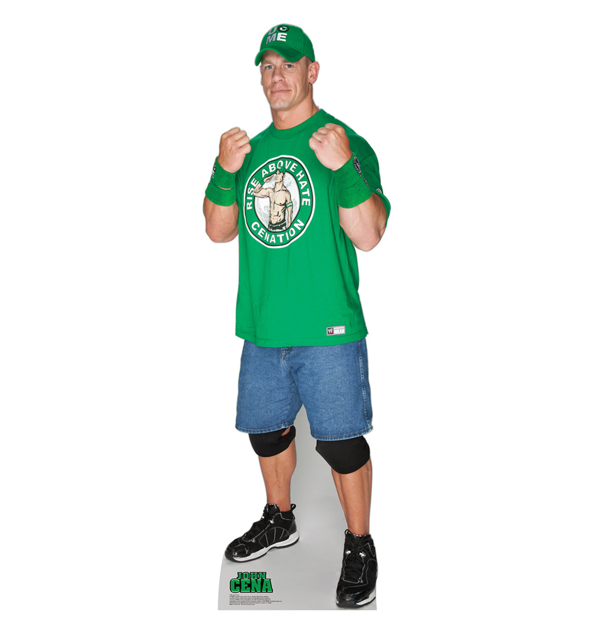 Life-size John Cena Green Shirt Cardboard Standup | Cardboard Cutout