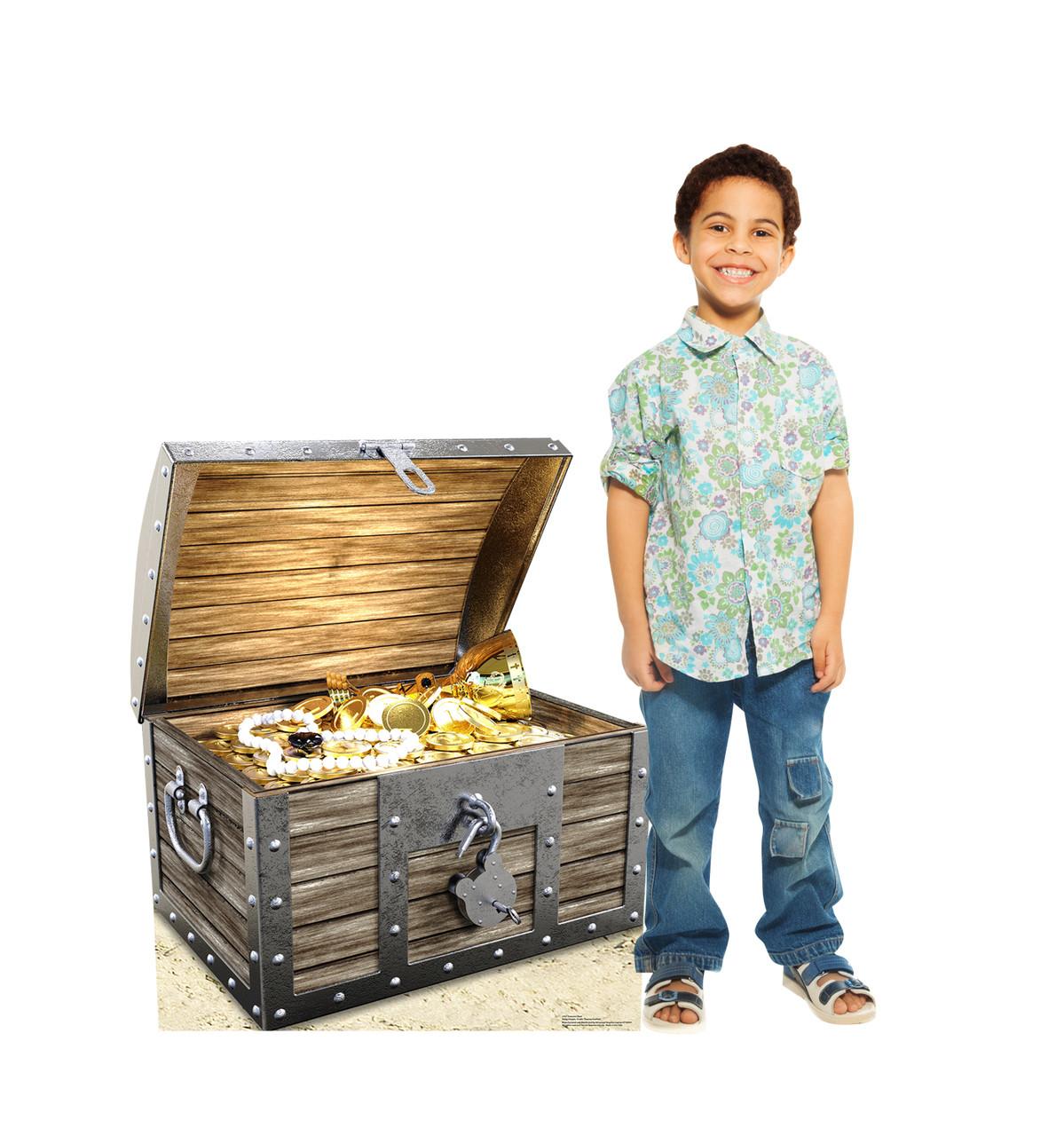 Life-size Treasure Chest Cardboard Standup | Cardboard Cutout 2